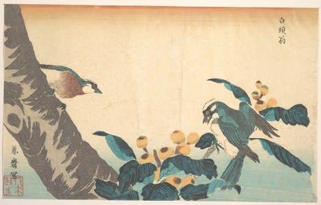 Birds and Flowers by Keisai Eisen, kachoga