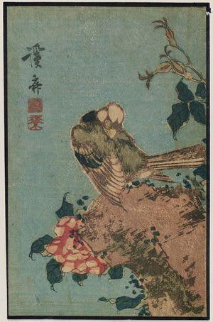 Bird and flowers by Keisai Eisen, kachoga