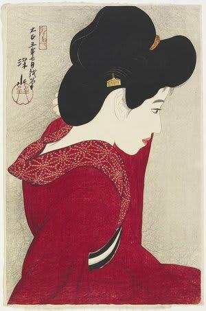 Before the Mirror, by Ito Shinsui, c. 1916, bijin-ga