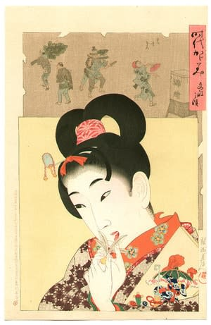 Bunsei, by Toyohara Chikanobu, c.1897, bijin-ga