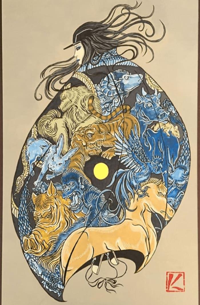 12 zodiac animals by kenji iwasaki