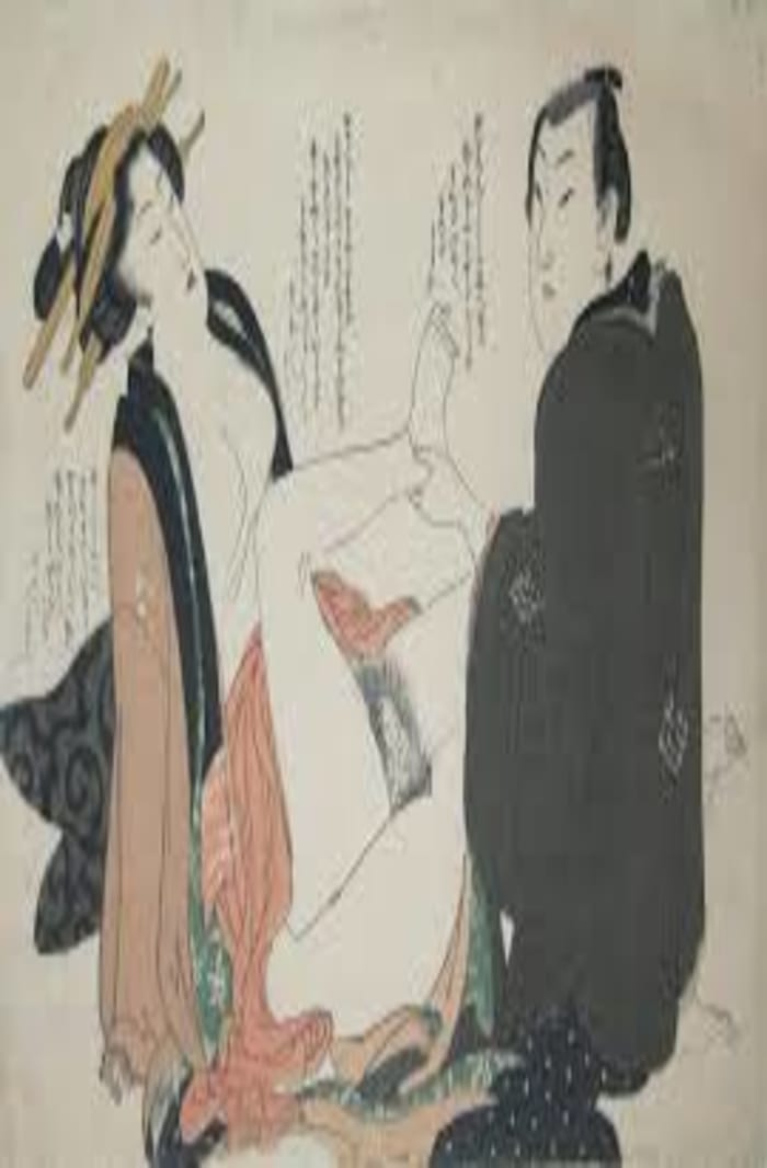 Eizan, Having an affair, c. 1820, shunga