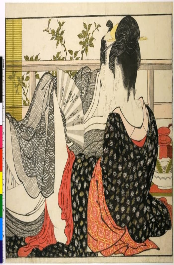 Utamakura 歌まくら , Poem of the Pillow (1788),ukiyo-e, shunga