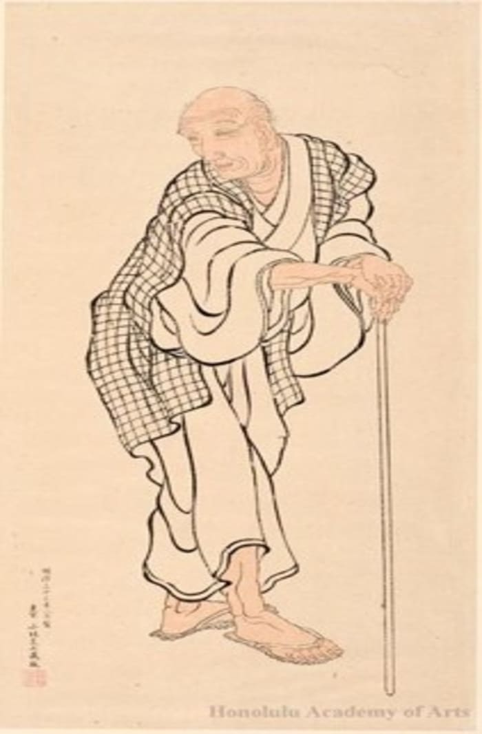 Portrait of Hokusai As An Old Man Attributed to Hokusai, ukiyo-e
