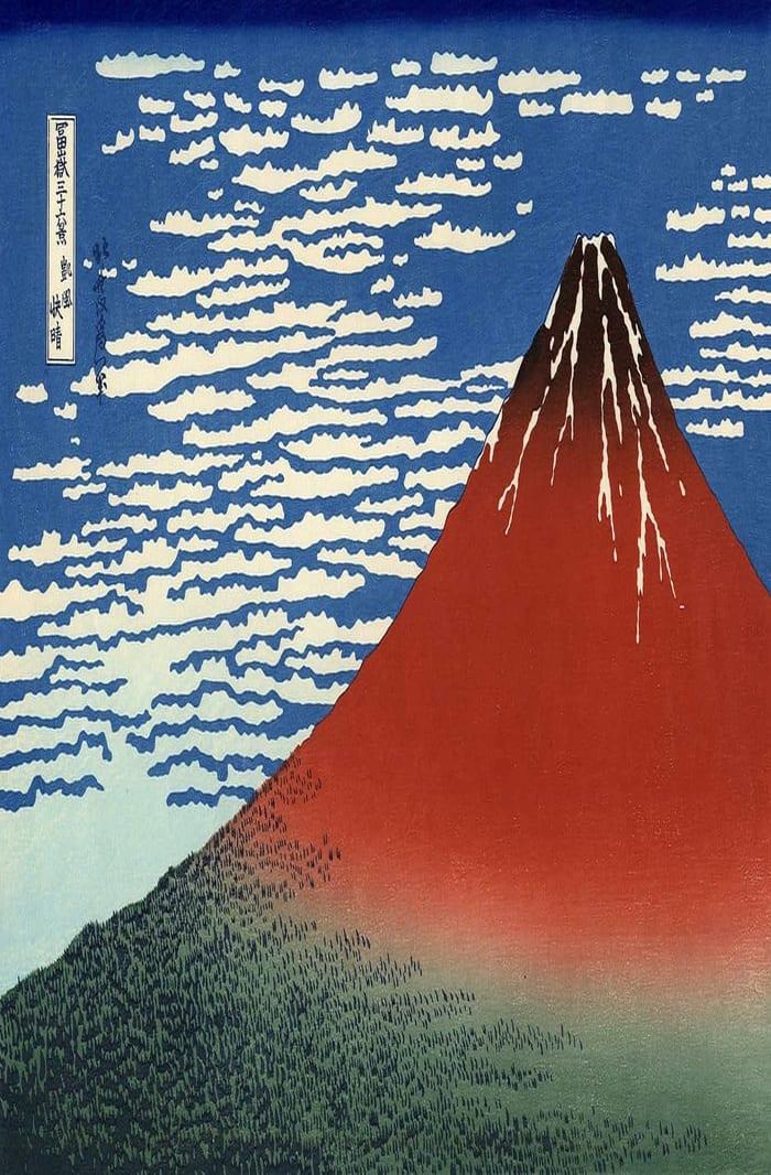 Hokusai's Fine Wind
