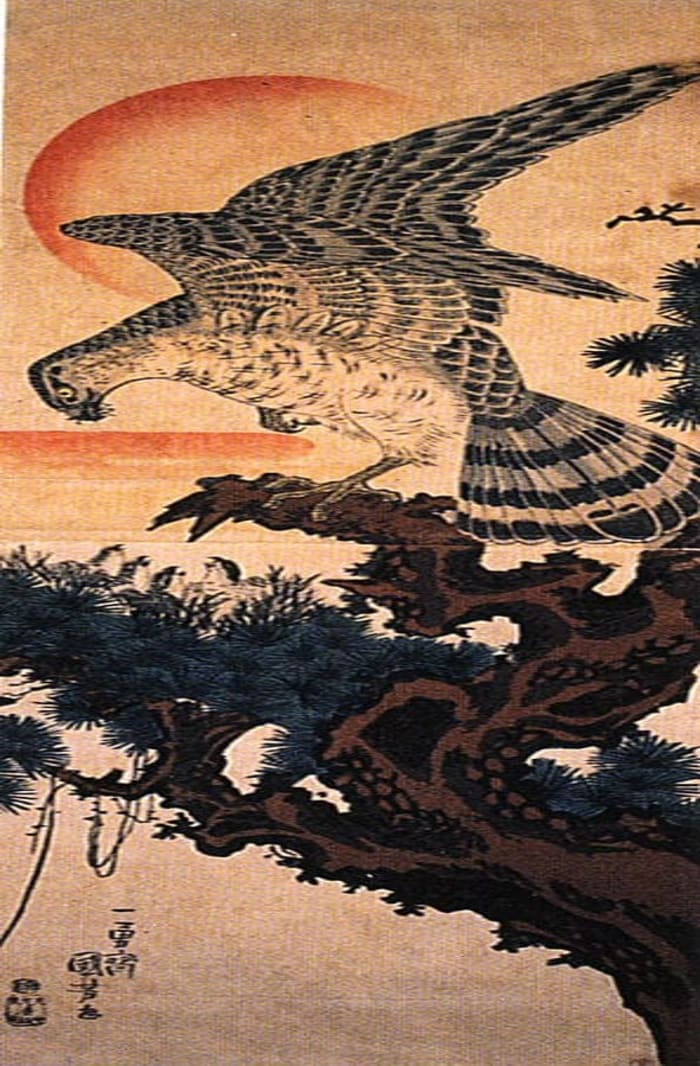 Hawk by Utagawa kuniyoshi