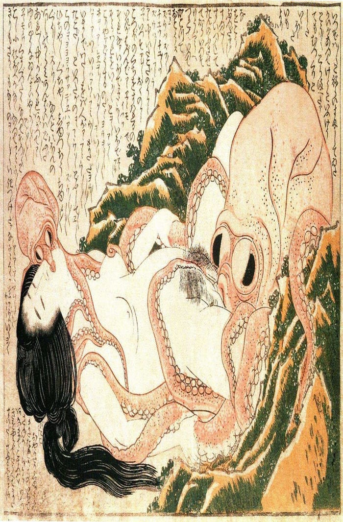 The Dream of the Fisherman's Wife, 1814, ukiyo-e