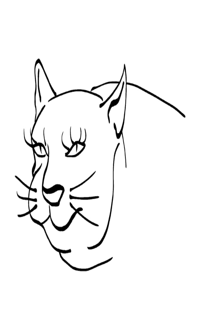 Cat -ukiyo-e BlackandWhite 6 - (猫) by RedSparkle (12-2019)
