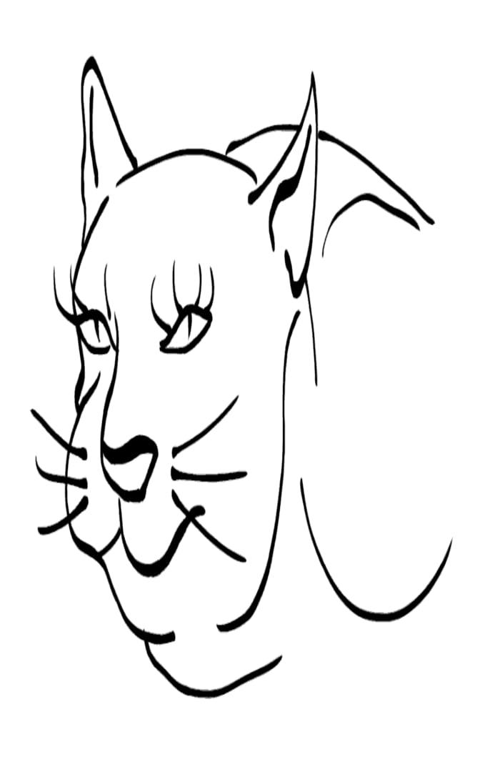 Cat -ukiyo-e BlackandWhite 7 - (猫) by RedSparkle (12-2019)
