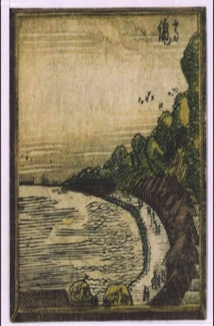 Eight Views of Edo, hokusai, ukiyo-e