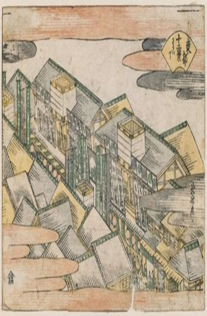 Twelve Views of the Eastern Capital, hokusai, ukiyo-e