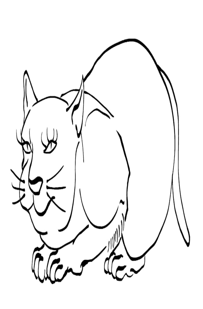 Cat -ukiyo-e BlackandWhite 10 - (猫) by RedSparkle (12-2019)