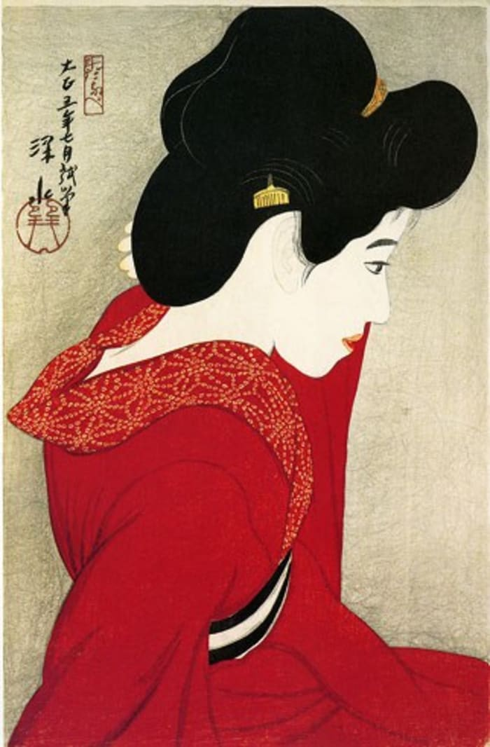 Before the Mirror by Shinsui Ito
