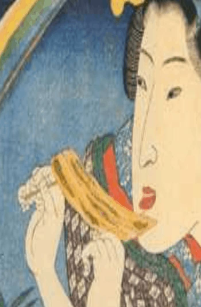 "How to draw ukiyo-e series - Grilled eel from ""Spring Rainbow"" by Kuniyoshi Utagawa"