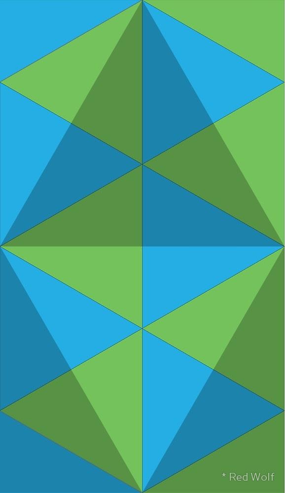 Geometric Pattern: Overlay / Red Wolf