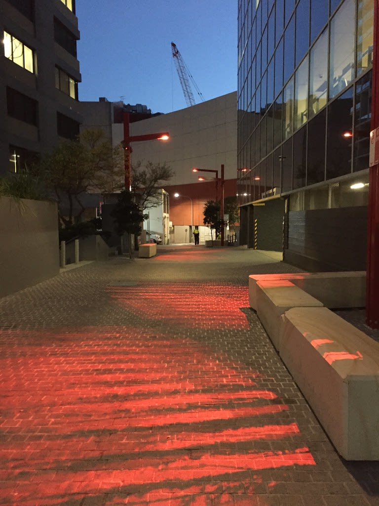 Fire Horse Lane lights / Red Wolf