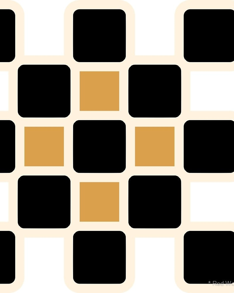 Geometric Pattern: Rounded Weave: Black/Cream/Gold / Red Wolf