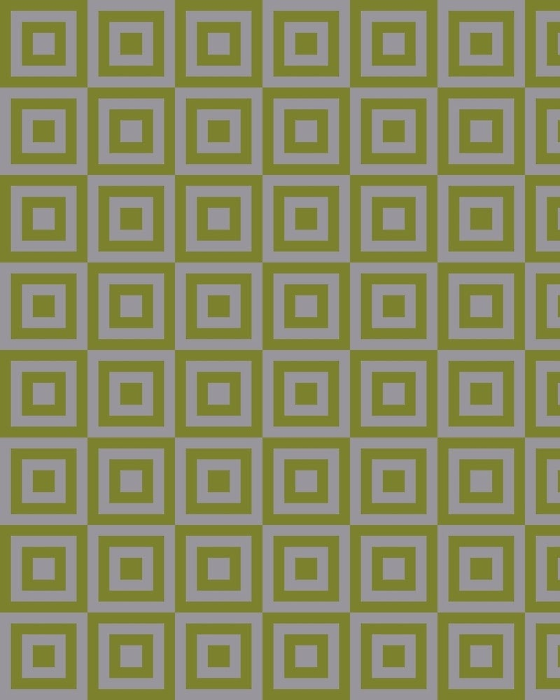 Geometric Pattern: Square Strobe / Red Wolf