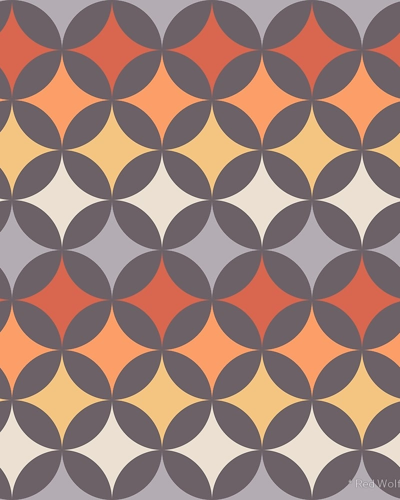 Geometric Pattern: Circle Nested / Red Wolf