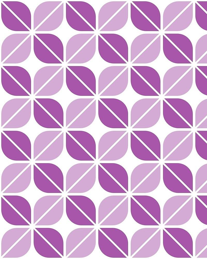 Geometric Pattern: Leaf: White / Red Wolf