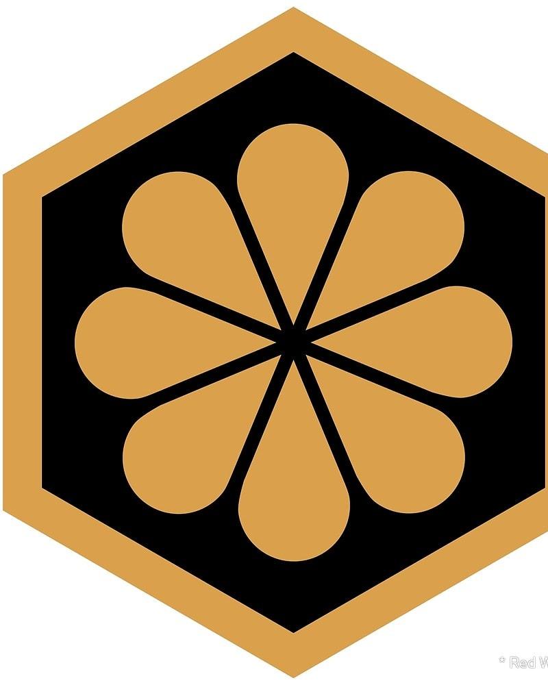 Geometric Pattern: Hexagon Flower / Red Wolf