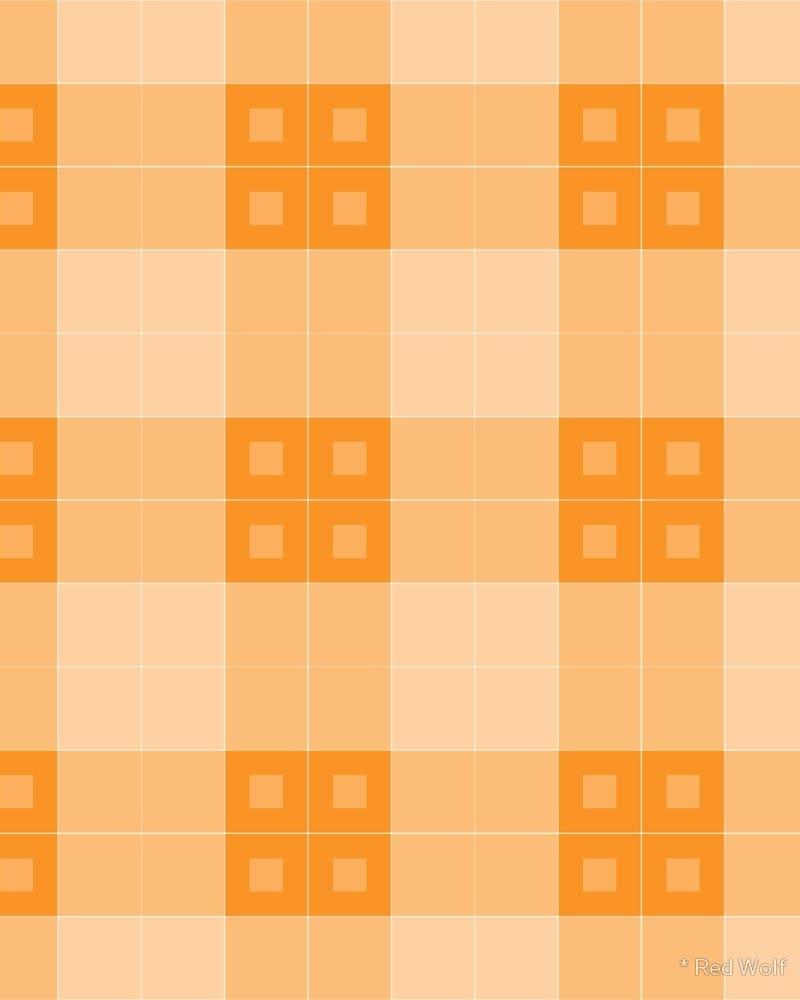 Geometric Pattern: Button Weave: Light / Red Wolf