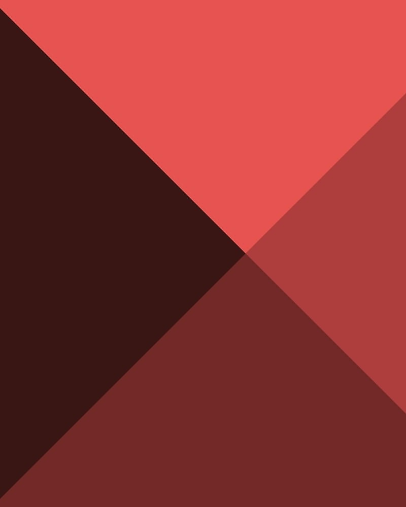 Geometric Pattern: Pyramid: Dark / Red Wolf