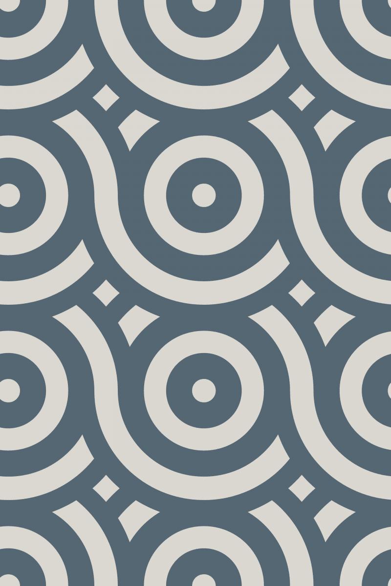 Geometric Pattern: Loop: Stone / Red Wolf