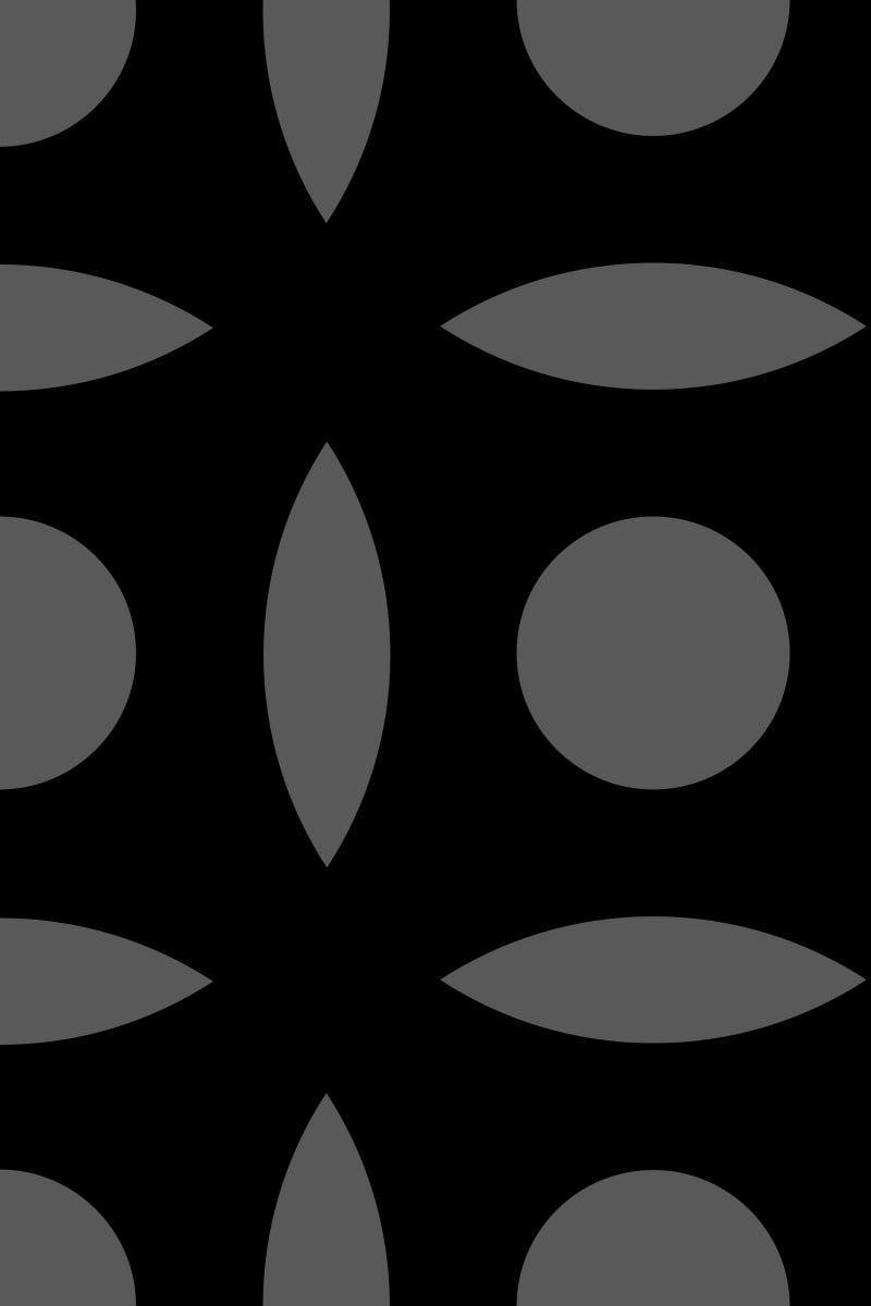 Geometric Pattern: Intersect Circle: Black Monochrome / Red Wolf