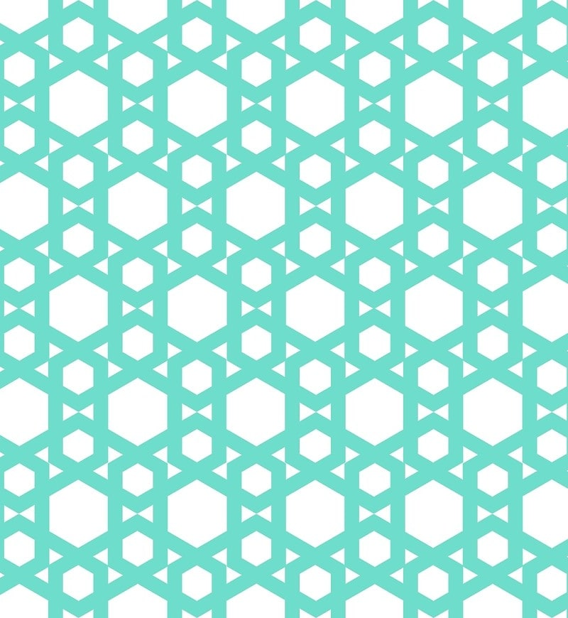 Geometric Pattern: Hexagon / Red Wolf