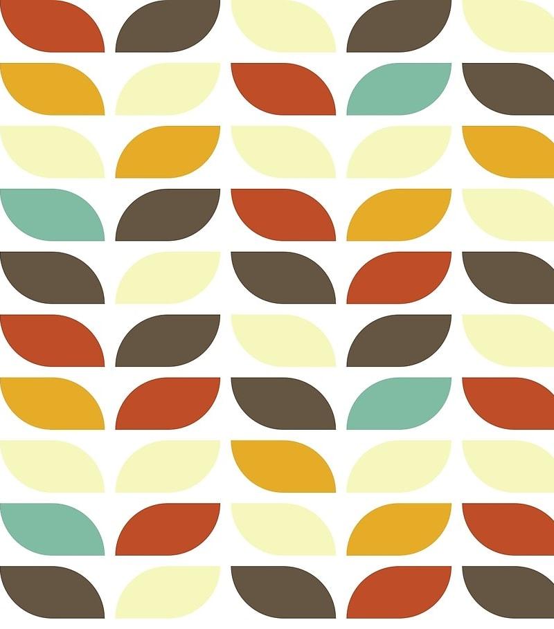 Geometric Pattern: Leaf: Seasons / Red Wolf