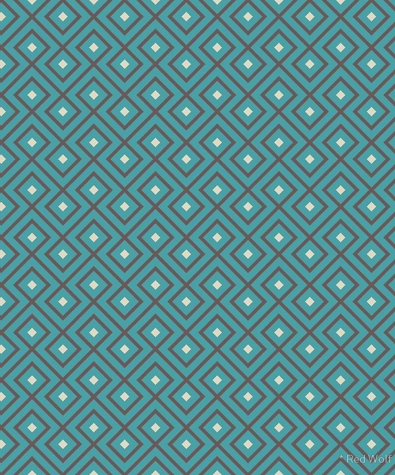 Geometric Pattern: Loop Diamond / Red Wolf