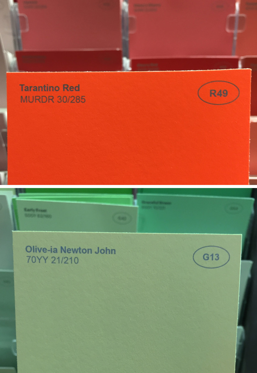 Renamed paint colours / Obvious Plant