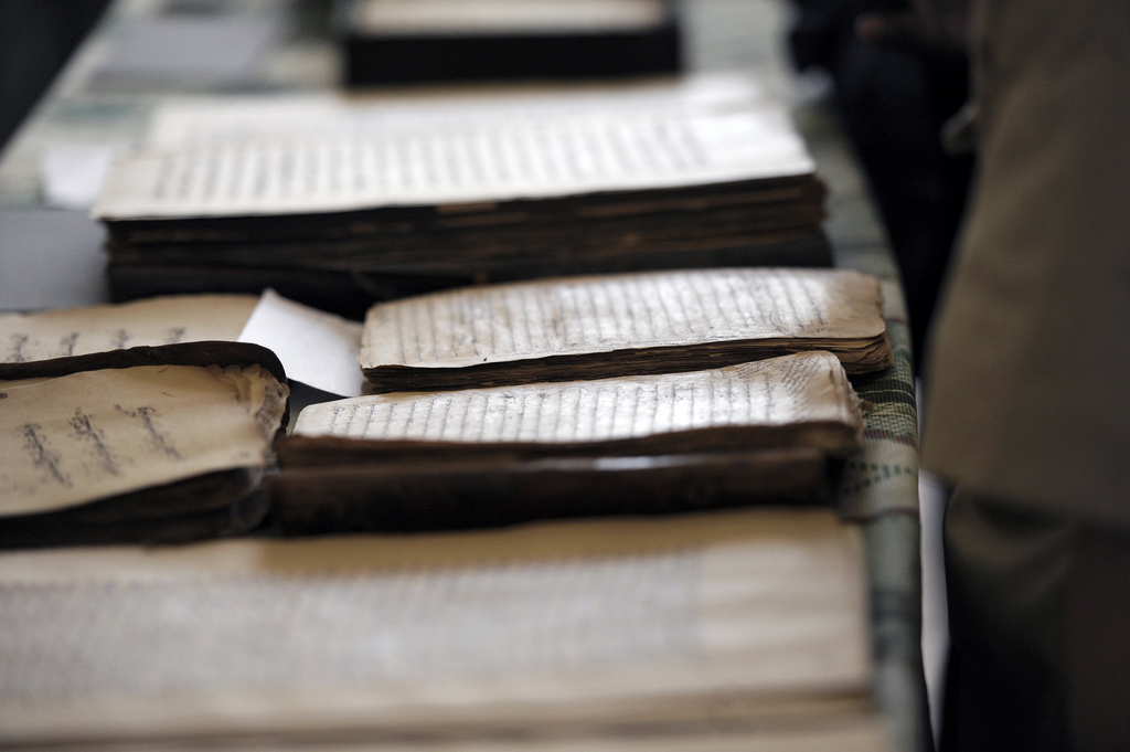 A view of Islamic scholarly texts at the Institute.
