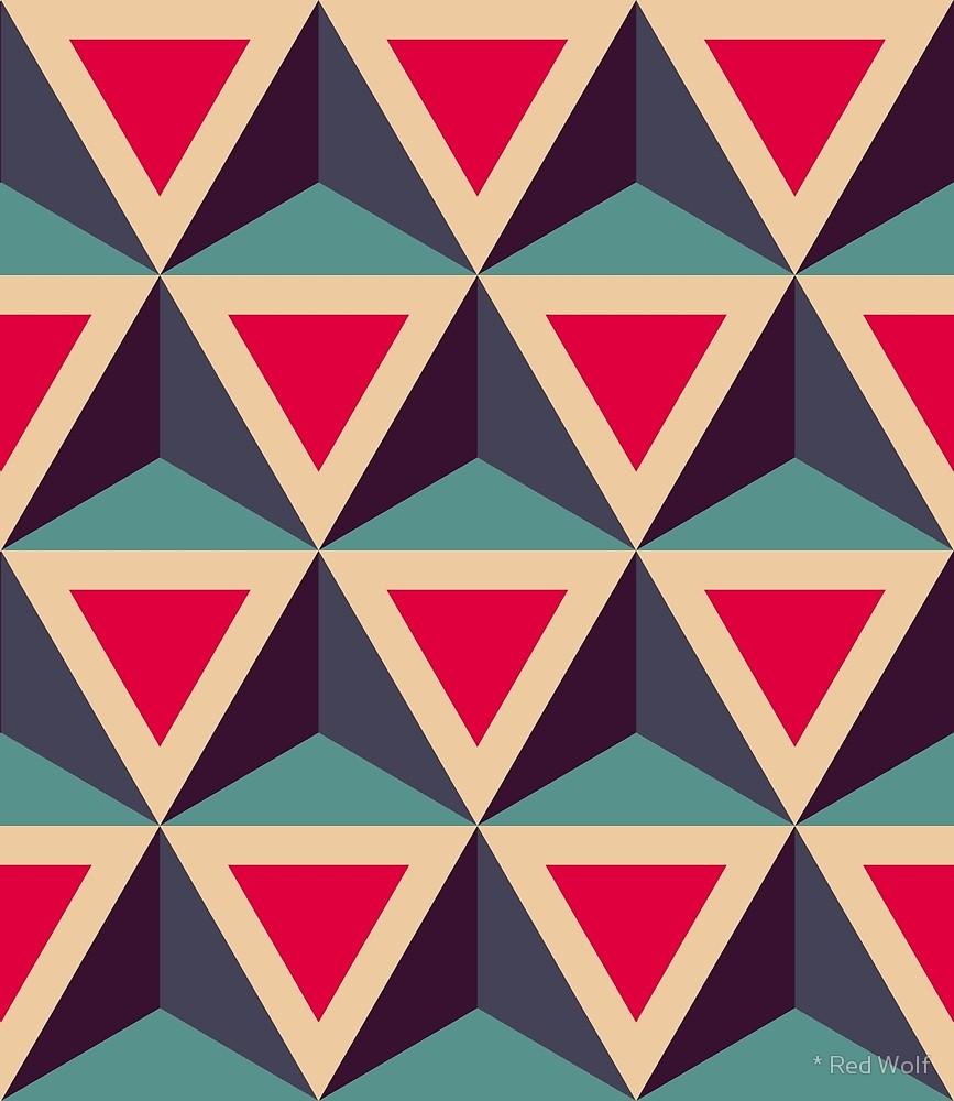 Geometric Pattern: Triangle / Red Wolf