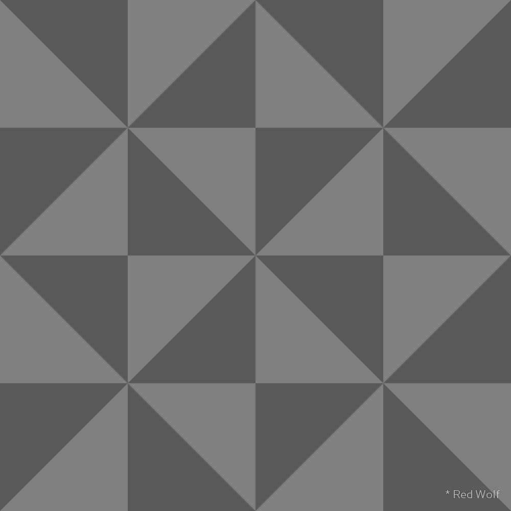 Geometric Pattern: Square Triangle: Monochrome / Red Wolf