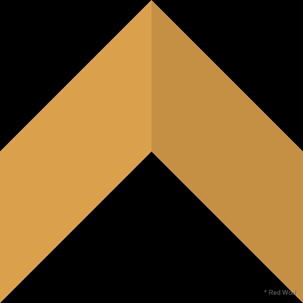 Geometric Pattern: Chevron: Deco / Red Wolf