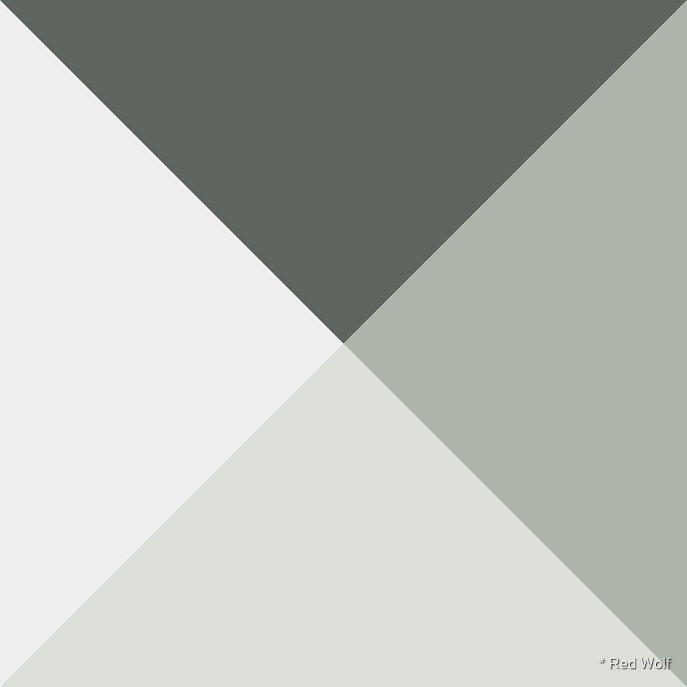 Geometric Pattern: Pyramid: Flora / Red Wolf