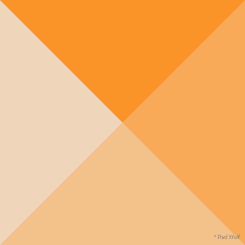 Geometric Pattern: Pyramid: Light / Red Wolf