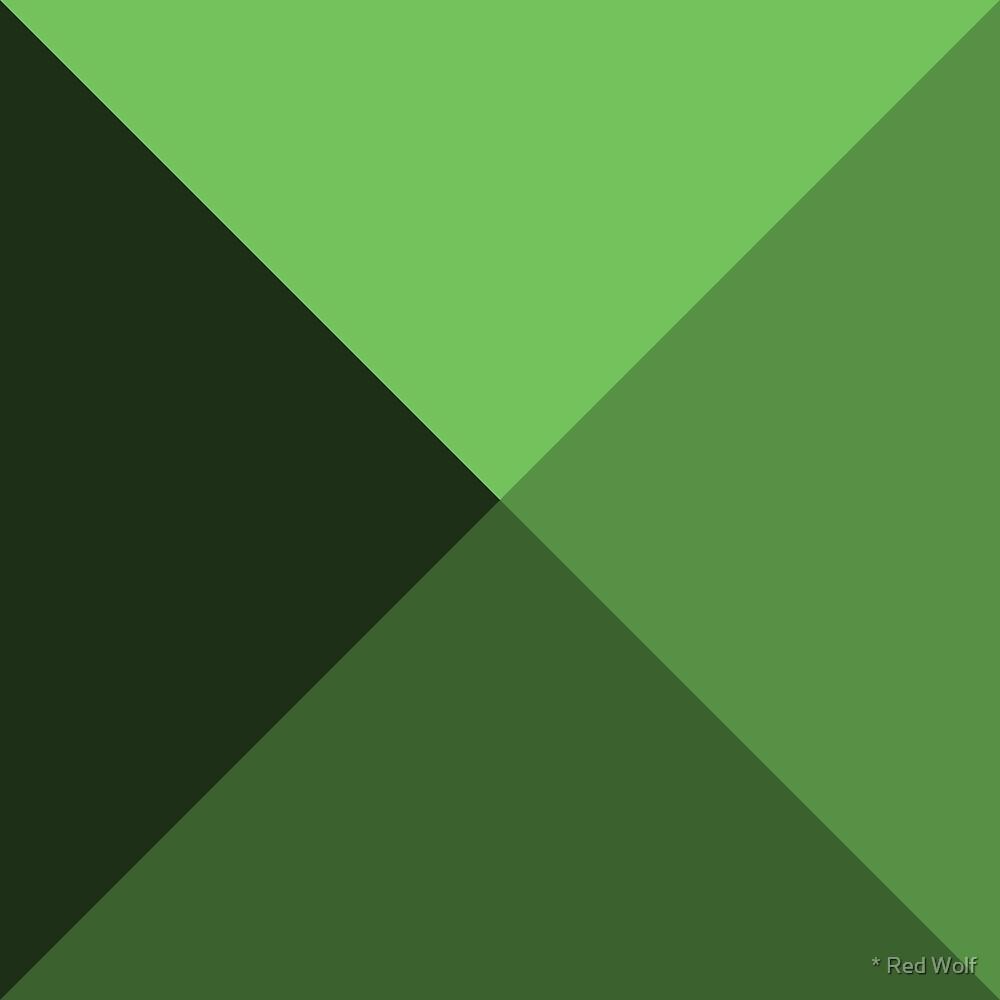 Geometric Pattern: Pyramid: Dark / Red Wolf