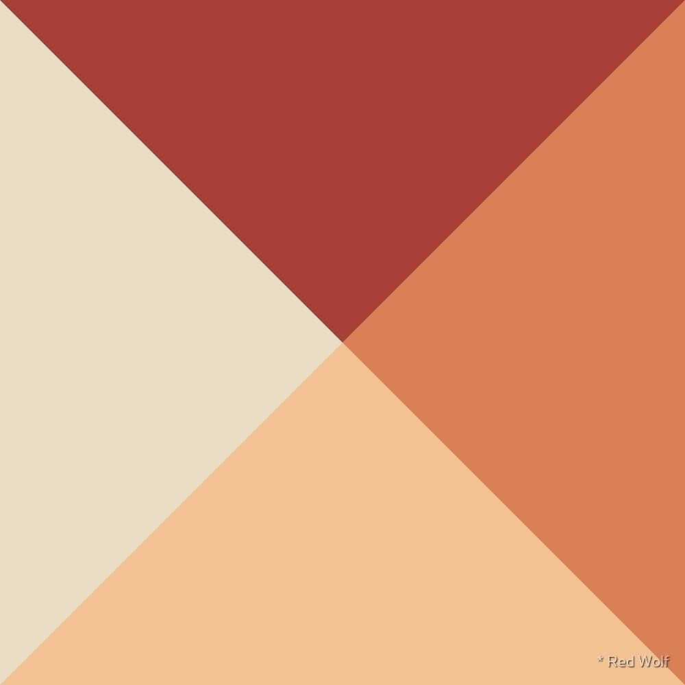 Geometric Pattern: Pyramid: Seasons / Red Wolf
