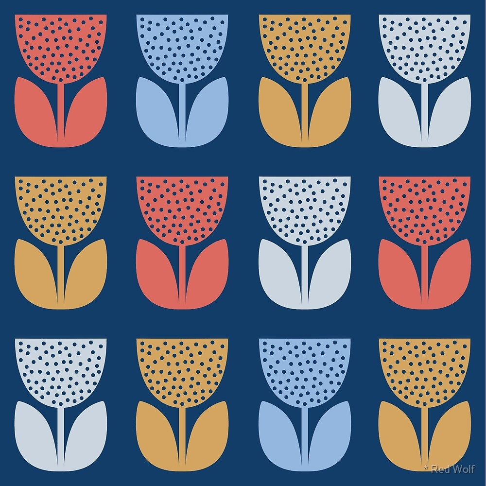 Geometric Pattern: Poppy: Seasons