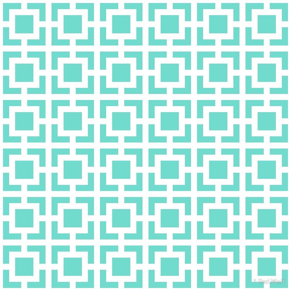Geometric Pattern: Square Bracket / Red Wolf