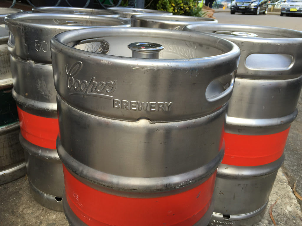 Paddy's Brewery + Kegs + Cones / Red Wolf