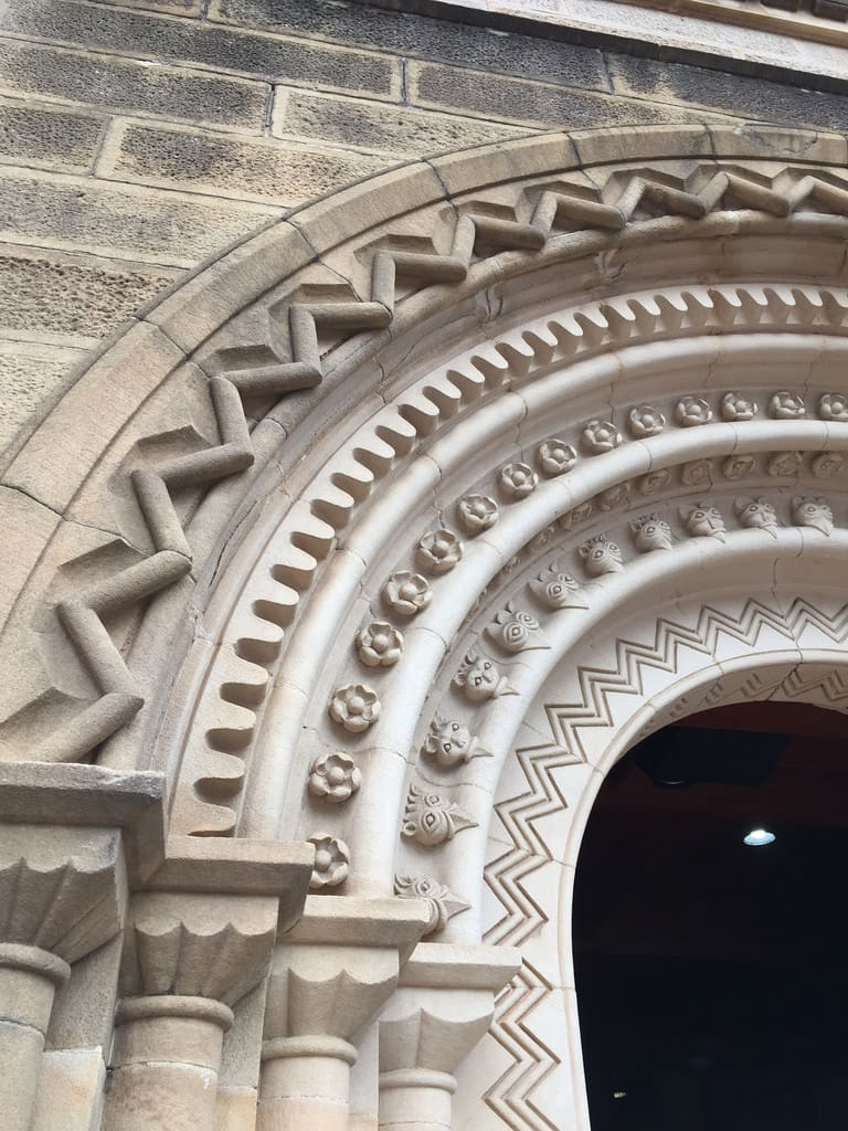 St Johns Cathedral Doorway Detail / Red Wolf