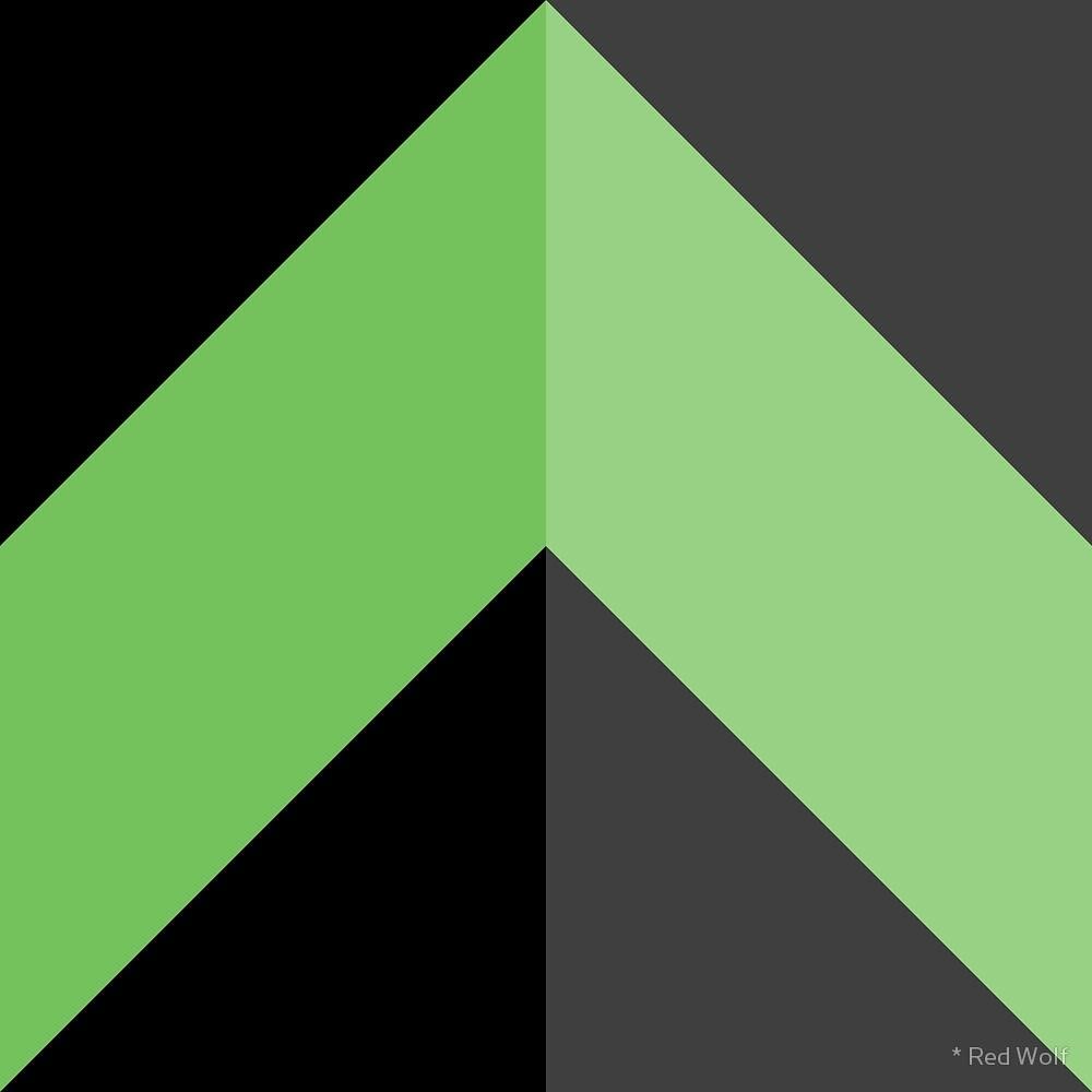Geometric Pattern: Chevron: Dark / Red Wolf