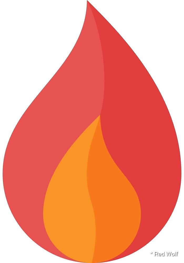 Geometric Pattern: Flame: Dark / Red Wolf