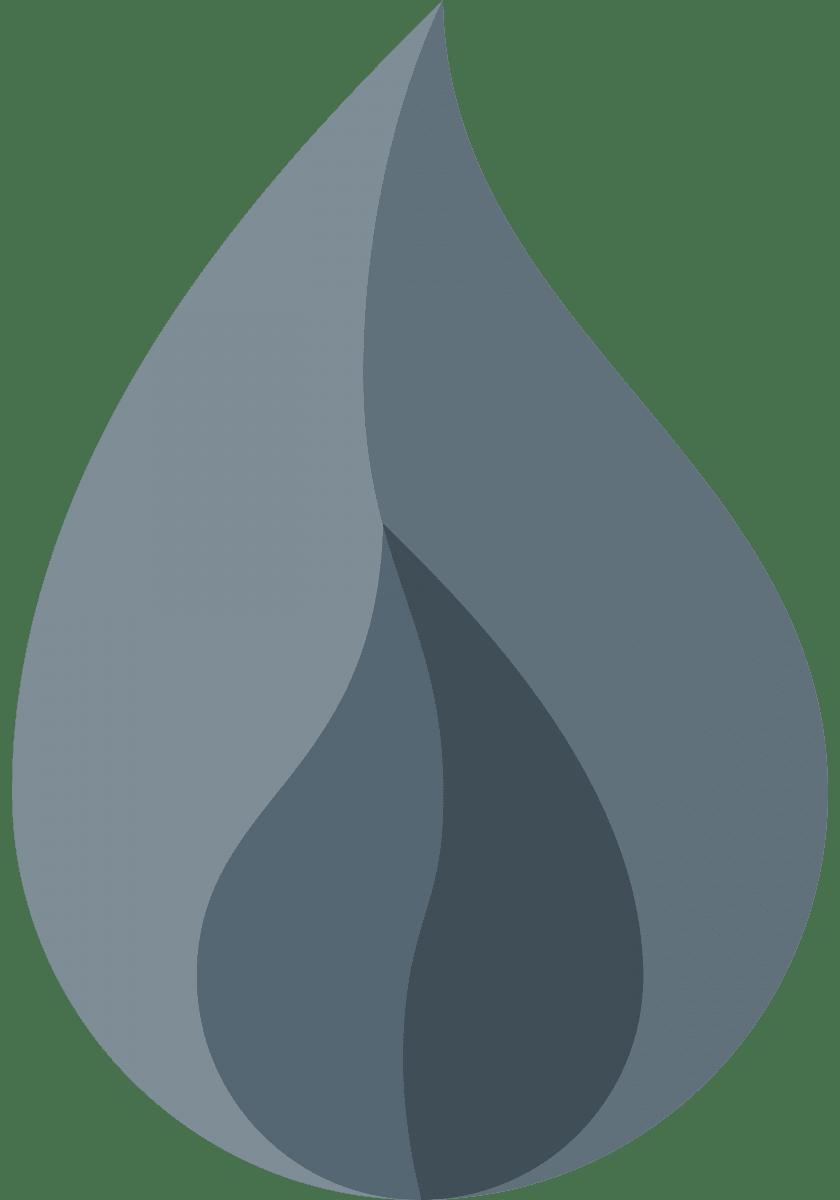 Geometric Pattern: Flame: Stone / Red Wolf
