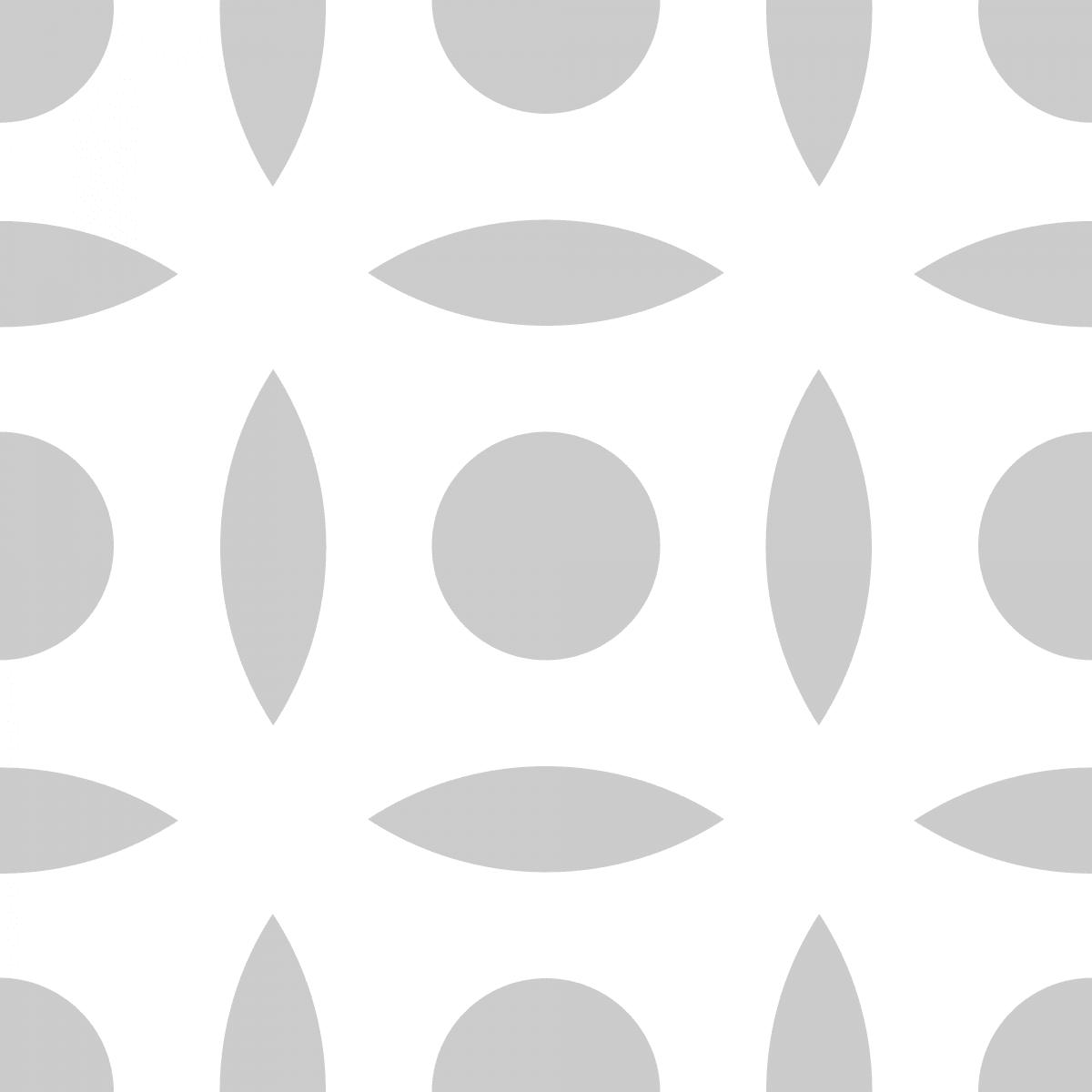 Geometric Pattern: Intersect Circle: White Monochrome / Red Wolf