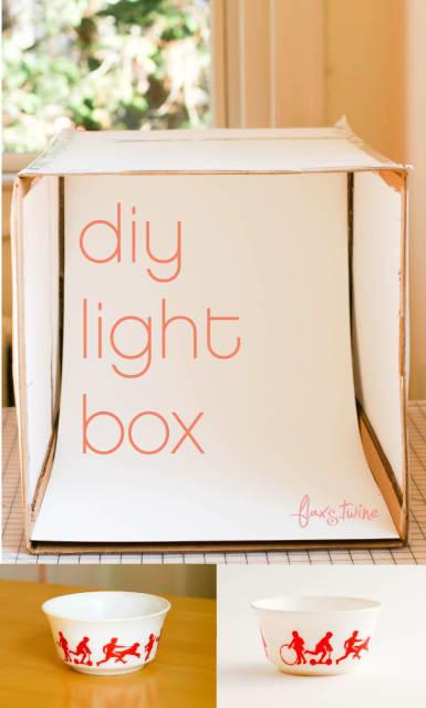 DIY Photo Light Box / Anne Weil